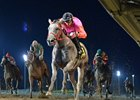 Who's Smokin captures the Prairie Gold Lassie Stakes at Prairie Meadows.