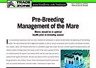 Trade Zone: Pre-Breeding Management of Mare