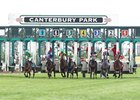 Start of the Lady Canterbury Stakes at Canterbury Park in Shakopee, Minnesota.