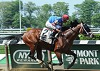 "Ostrolenka won the Mike Lee Stakes by 2 lengths on May 25.<br><a target=""blank"" href=""http://photos.bloodhorse.com/AtTheRaces-1/At-the-Races-2015/i-hLM2j3M"">Order This Photo</a>"