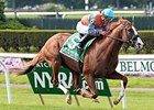 "Force the Pass rolls to victory in the Belmont Derby Invitational.<br><a target=""blank"" href=""http://photos.bloodhorse.com/AtTheRaces-1/At-the-Races-2015/i-RXzbmVc"">Order This Photo</a>"