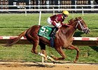 "Sheer Drama rolls to victory in the Delaware Handicap.<br><a target=""blank"" href=""http://photos.bloodhorse.com/AtTheRaces-1/At-the-Races-2015/i-9BgBrGG"">Order This Photo</a>"