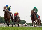 Middleburg (right) finished 2nd in the Arlington Handicap on July 11.