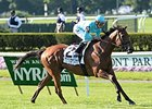 "Lady Eli dominates the Belmont Oaks Invitational.<br><a target=""blank"" href=""http://photos.bloodhorse.com/AtTheRaces-1/At-the-Races-2015/i-xjMmMQH"">Order This Photo</a>"