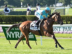 Lady Eli dominates the Belmont Oaks Invitational.