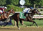 Stopchargingmaria defeats Untapable in the Shuvee Stakes.