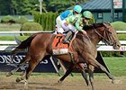 "Keen Ice goes by American Pharoah to win the Travers Stakes. <br><a target=""blank"" href=""http://photos.bloodhorse.com/AtTheRaces-1/At-the-Races-2015/i-KSRJ8d9"">Order This Photo</a>"