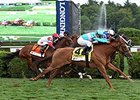 "Dacita catches Tepin late to win the Ballston Spa Stakes.<br><a target=""blank"" href=""http://photos.bloodhorse.com/AtTheRaces-1/At-the-Races-2015/i-Hq9DwjP"">Order This Photo</a>"