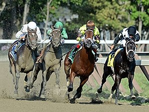 Exaggerator wins the Saratoga Special Stakes.