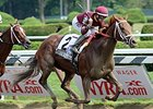 "Sheer Drama comes home strong to win the Personal Ensign.<br><a target=""blank"" href=""http://photos.bloodhorse.com/AtTheRaces-1/At-the-Races-2015/i-TmzHvfB"">Order This Photo</a>"