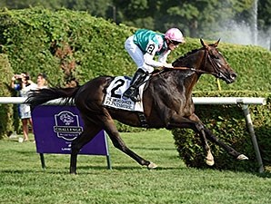 Flintshire took over entering the stretch and wasn't threatened in Sword Dancer