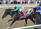 "Honor Code goes by Liam's Map late to win the Whitney Stakes.<br><a target=""blank"" href=""http://photos.bloodhorse.com/AtTheRaces-1/At-the-Races-2015/i-sK2d4xk"">Order This Photo</a>"