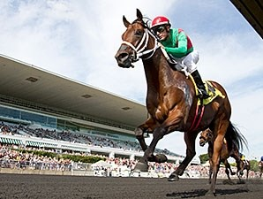 Shogood rolls to victory in the Arlington-Washington Futurity.