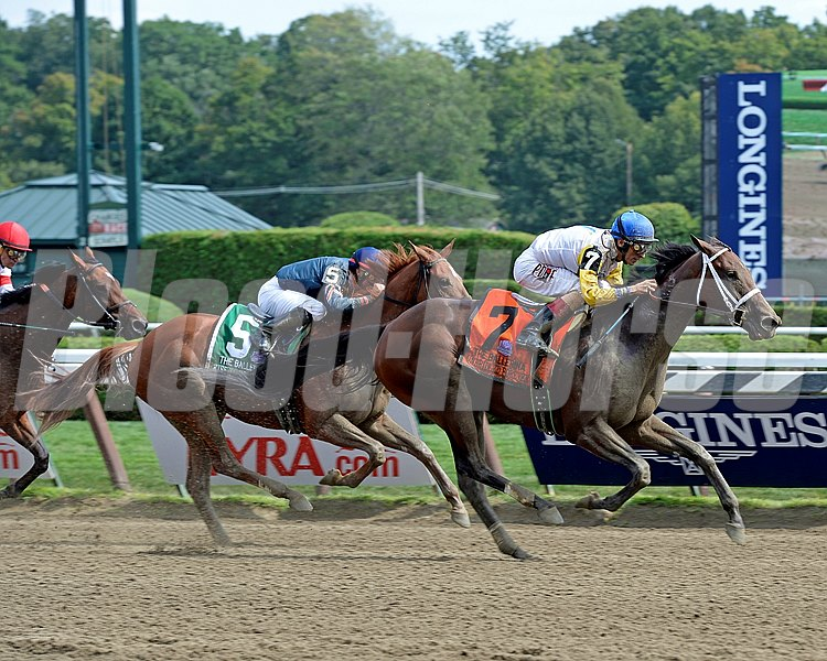 Caption: Unbridled Forever with John Velazquez wins the Ballerina (gr. I) at Saratoga on Travers Day, Aug. 29, 2015, at Saratoga in Saratoga Springs, N.Y.  Travers1  image263 Anne M. Eberhardt photo