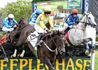 "Choral Society (right) upsets the A. P. Smithwick Memorial Steeplechase.<br><a target=""blank"" href=""http://photos.bloodhorse.com/AtTheRaces-1/At-the-Races-2015/i-THgfWZF"">Order This Photo</a>"