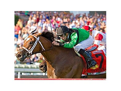 The Pizza Man, winning the Arlington Million.