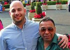 Restrepo with Hall of Fame jockey Angel Cordero Jr.