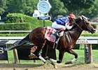 "Runhappy rolls to victory in the NYRA.com King's Bishop Stakes.<br><a target=""blank"" href=""http://photos.bloodhorse.com/AtTheRaces-1/At-the-Races-2015/i-MtTFzLs"">Order This Photo</a>"