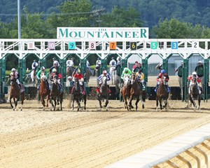 Start of the West Virginia Derby (gr. II) at Mountaineer Park in Chester, West Virginia.