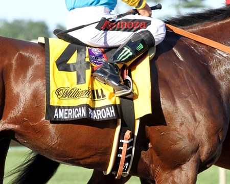 "American Pharoah returned $2.20 to win, $2.10 to place, and $2.10 to show, while Keen Ice returned $4.80 and $2.80. Upstart paid $2.40 to show. The Haskell is a Breeders' Cup Challenge ""Win & You're In"" race, but the connections will first consider a start at Keeneland before the Breeders' Cup Classic (gr. I). Baffert and the Zayats said they'll return to Southern California and make their decision."