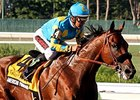 "American Pharoah <br><a target=""blank"" href=""http://photos.bloodhorse.com/AtTheRaces-1/At-the-Races-2015/i-FQqqd8x"">Order This Photo</a>"