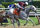 "Just Wicked get by Tonasah late to win the Adirondack Stakes.<br><a target=""blank"" href=""http://photos.bloodhorse.com/AtTheRaces-1/At-the-Races-2015/i-d2pKxm2"">Order This Photo</a>"