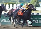"Rock Fall powers home to win the Vosburgh Stakes.<br><a target=""blank"" href=""http://photos.bloodhorse.com/AtTheRaces-1/At-the-Races-2015/i-pz82x7n"">Order This Photo</a>"