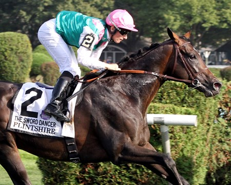 Flintshire slashes the competition in the Sword Dancer Stakes at Saratoga.