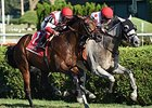 "World Approval holds off Money Multiplier to take the Saranac Stakes.<br><a target=""blank"" href=""http://photos.bloodhorse.com/AtTheRaces-1/At-the-Races-2015/i-73Nk6c6"">Order This Photo</a>"