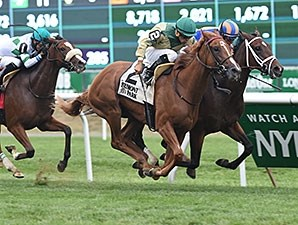 Tin Type Gal wins the Miss Grillo Stakes.