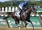 "Wedding Toast dominates the Beldame Stakes.<br><a target=""blank"" href=""http://photos.bloodhorse.com/AtTheRaces-1/At-the-Races-2015/i-T9VmpqX"">Order This Photo</a>"