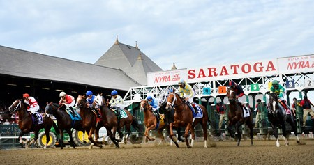 Honor Code wins the 88th running of The Whitney Saturday August 8, 2015 at the Saratoga Race Course in Saratoga Springs, N.Y.