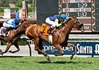 Singing Kitty won the Unzip Me Stakes at Santa Anita on September 26.