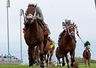 Manhattan Dan (right) finished 3rd in the Summer Stakes Sept. 12 at Woodbine.