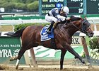 "Tacticus comes home strong to take the Temperence Hill Stakes.<br><a target=""blank"" href=""http://photos.bloodhorse.com/AtTheRaces-1/At-the-Races-2015/i-pr9xz7q"">Order This Photo</a>"