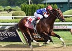 "Runhappy won the King's Bishop on August 29.<br><a target=""blank"" href=""http://photos.bloodhorse.com/AtTheRaces-1/At-the-Races-2015/i-fPwMfx2"">Order This Photo</a>"
