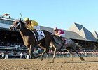 "Rachel's Valentina takes the Spinaway Stakes.<br><a target=""blank"" href=""http://photos.bloodhorse.com/AtTheRaces-1/At-the-Races-2015/i-8Ww5BS7"">Order This Photo</a>"