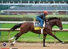 Keen Ice worked five furlongs in 1:01 flat on Oct. 24 in preparation for the Classic.