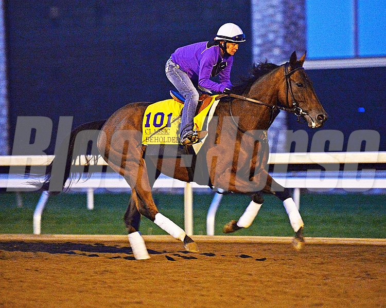 Beholder on track for first time today.