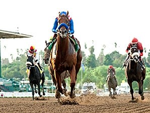 Dortmund runs away from the competition in the Big Bear Stakes.