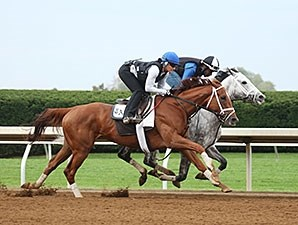 Curalina (outside) worked a half-mile in :47 2/5.