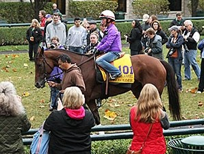 Beholder schools at Keeneland Oct. 25.