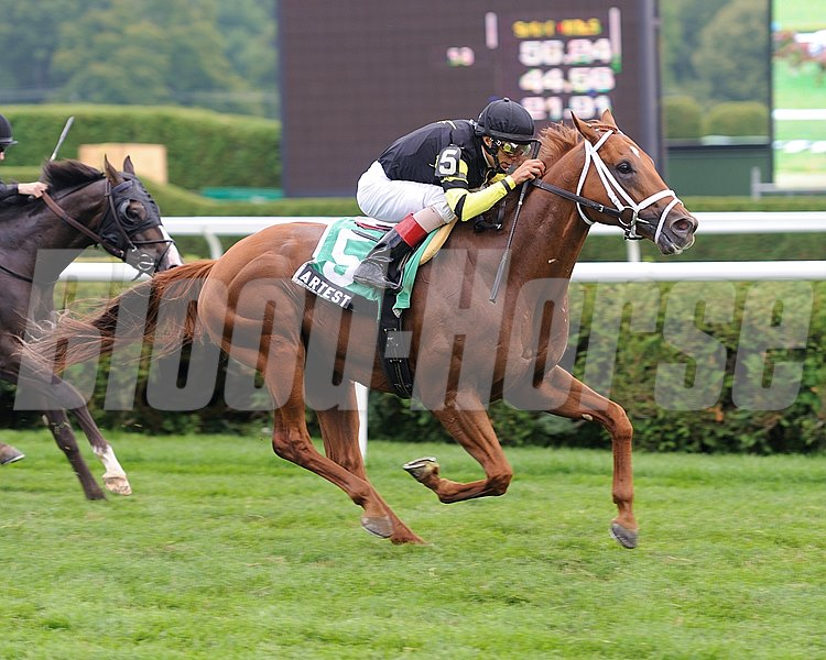 Artest wins the Quick Call Stakes at Saratoga on July 26, 2012.