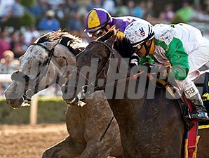 Wild Dude wins the 2015 Santa Anita Sprint Championship.