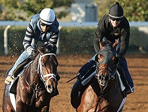 Commissioner (inside) and Protonico (outside) - Keeneland, October 16, 2015.