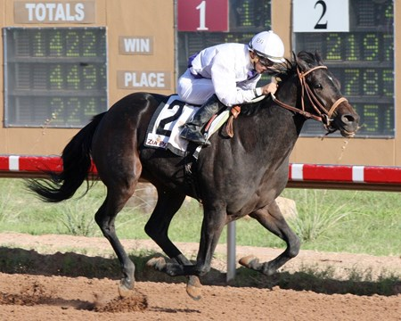 Indian Tiva takes the Permian Basin Stakes at Zia Park.
