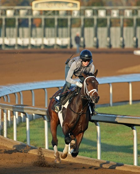 Rachel's Valentina - Morning Workout - Keeneland Race Course - 102315