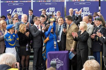 Liam's Map connections celebrate in the winner's circle.