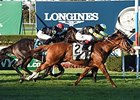 "Messi catches Cage Fighter late to win the Knickerbocker Stakes.<br><a target=""blank"" href=""http://photos.bloodhorse.com/AtTheRaces-1/At-the-Races-2015/i-qRfBP8v"">Order This Photo</a>"