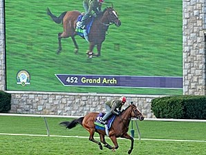 Grand Arch works at Keeneland Oct. 25.